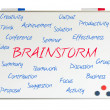Brainstorm word cloud — 图库照片