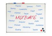 Motivate word cloud — Stock Photo