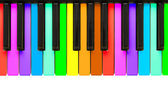 Rainbow piano keys — Stock Photo