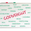 Copyright word cloud — Stock Photo