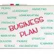 Stock Photo: Business plan word cloud