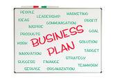 Business plan word cloud — Stock Photo