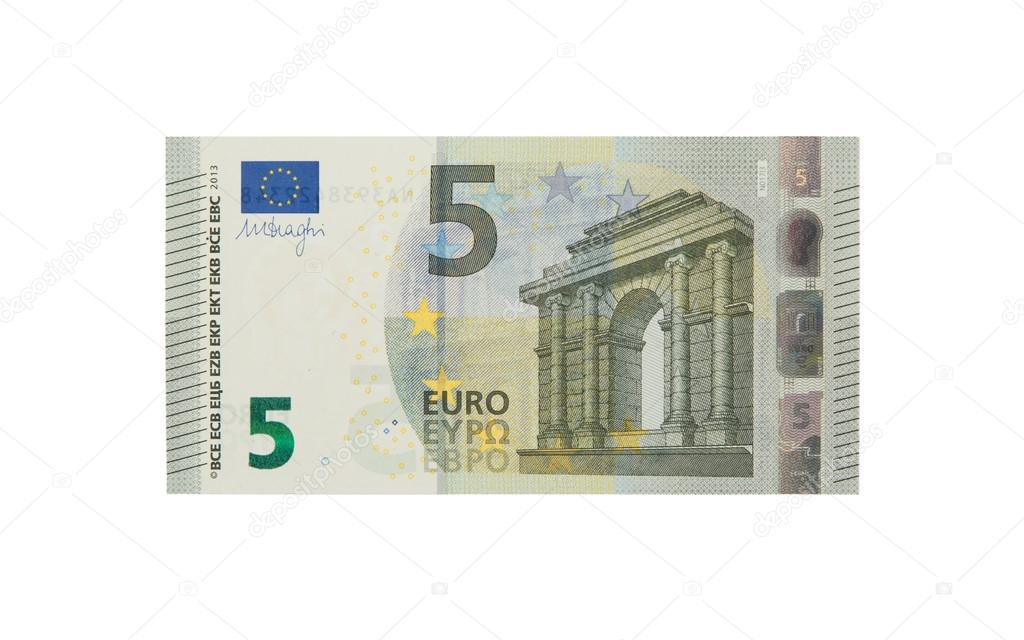 brand new 5 euro bank note stock photo michaklootwijk 27191885. Black Bedroom Furniture Sets. Home Design Ideas