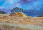 丘の絵画 — ストック写真