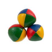Tres malabares con pelotas aisladas — Foto de Stock