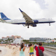 Stock Photo: ST MARTIN, ANTILLES - JULY 19, 2013: JetBlue is fastest grow