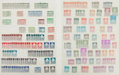 Collection of old dutch stamps — Stock Photo