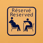 Reserved for pregnant women and the elderly — Stock Photo