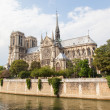 PARIS, JULY 28: Cathedral Notre Dame de Paris on July 28, 2013. — Stock Photo