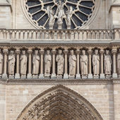 PARIS - JULY 27: Architectural details of Cathedral Notre Dame d — Stock Photo