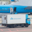 AMSTERDAM - SEPTEMBER 6: KLM plane is being loaded at Schiphol A — Stock Photo #32169655