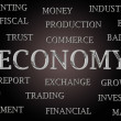 Economy word cloud — Stock Photo