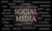 Sociala medier word cloud — Stockfoto