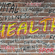 Health word cloud — Foto de Stock