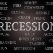 Stock Photo: Recession word cloud