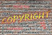 Copyright word cloud — Stock Photo