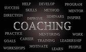 Coaching word cloud — Stock Photo