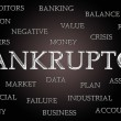 Bankruptcy word cloud — Stockfoto #33318969