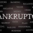 Bankruptcy word cloud — 图库照片