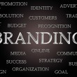 Branding word cloud — Stock Photo