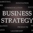 Business strategy word cloud — Stock Photo