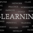 E-Learning word cloud — Stock Photo