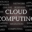 Cloud computing word cloud — Zdjęcie stockowe