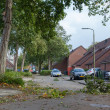LEEUWARDEN, NETHERLANDS, OKTOBER 28, 2013: Massive storm hit the — Stock Photo