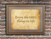 Enjoy the little things in life — Stock Photo
