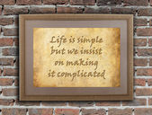 Life is simple — Stock Photo