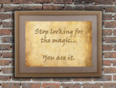 Stop looking for the magic — Stock Photo