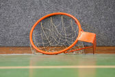 Old basketball hoop with net — Stock Photo