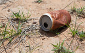 Old rusty beverage can — Stock Photo