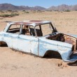 Abandoned car in the Namib Desert — Stock Photo #38950015
