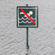 Caution No Swimming allowed — Stock Photo #40347409