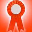 Stock Photo: Award ribbon isolated on white background