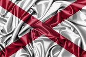 Satin flag, three dimensional render — ストック写真