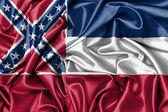 Saten bayrak, üç boyutlu render — Stok fotoğraf