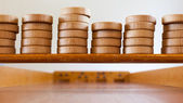 Typical dutch wooden boardgame - Sjoelen — Stock Photo