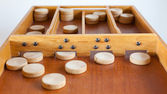 Typical dutch wooden boardgame - Sjoelen — Stock Photo
