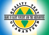 Quality test guaranteed stamp — Stock Photo