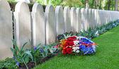 一排排的墓碑 — 图库照片