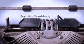 Vintage inscription made by old typewriter — Stock Photo