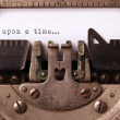 Vintage inscription made by old typewriter — Stock Photo #46115489