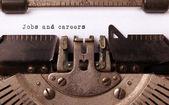 Inscripción vintage de la vieja máquina de escribir — Foto de Stock