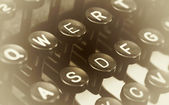 Close up photo of antique typewriter keys — Stockfoto