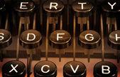 Close up of a dirty vintage typewriter — Stockfoto