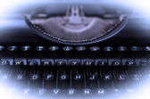 Close up of a dirty vintage typewriter — Stock Photo