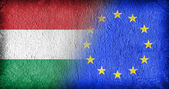 Hungary and the EU — Stok fotoğraf