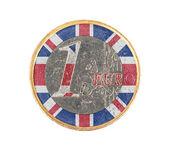 Euro coin, 1 euro — Foto de Stock